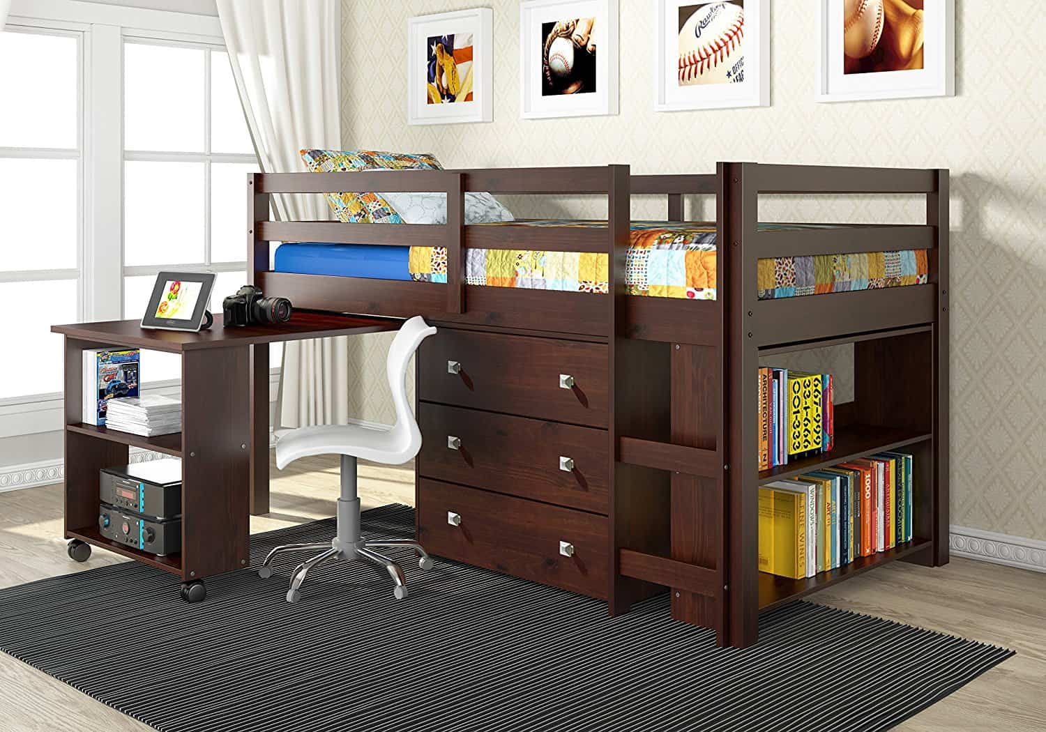 bed kids pinterest beds wardrobe with desk and baby design pin bunk